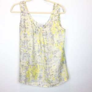CAbi Silk Button Up Back Tank Top